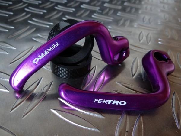 """Tektro Lever Stick's (Bremshebelverlängerungen) """"Purple"""""""