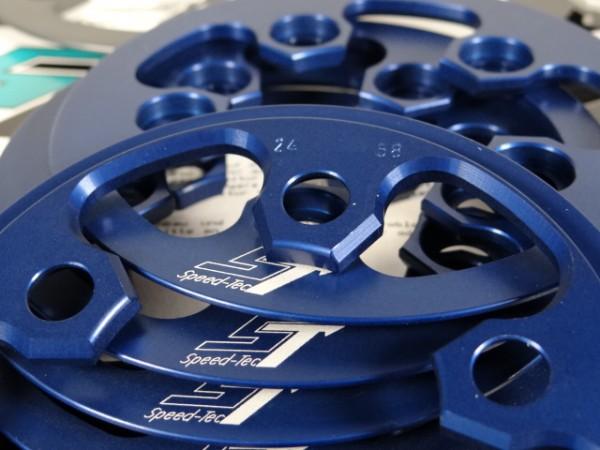 "Speed Tec Kettenfangring Anti-Chainsuck T24 LK58 ""Blau"""