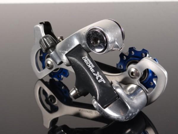 "Shimano XT Schaltwerk RD-M737 Longcage 8-fach ""Blau"""
