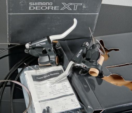 Shimano XT STI-M737 Rapidfire Plus Schaltbremskombi
