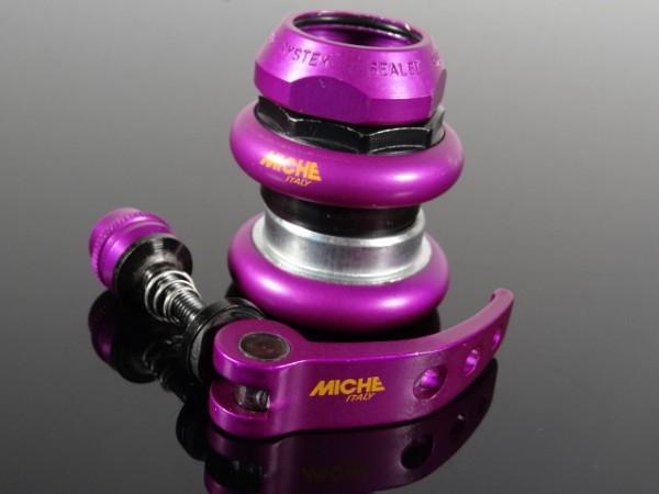 """Miche Steuersatz & Sattelspanner """"Purple"""""""