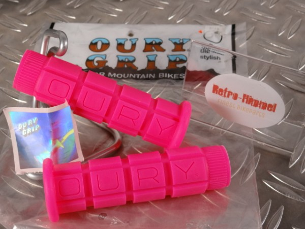 """Oury Grips MTB Griffe """"Pink"""" NOS"""