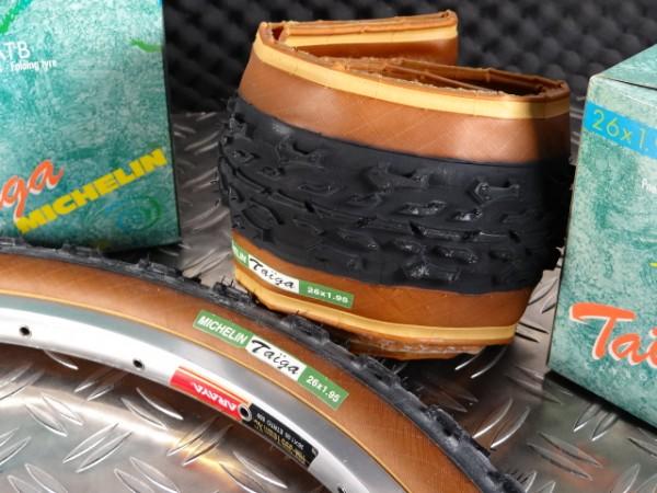 Michelin Taiga Carbon MTB Reifen Satz NOS 26x1.95
