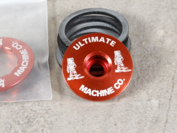 """Ultimate Machine Aheadkappe """"Rot"""" 1 1/8 NOS"""