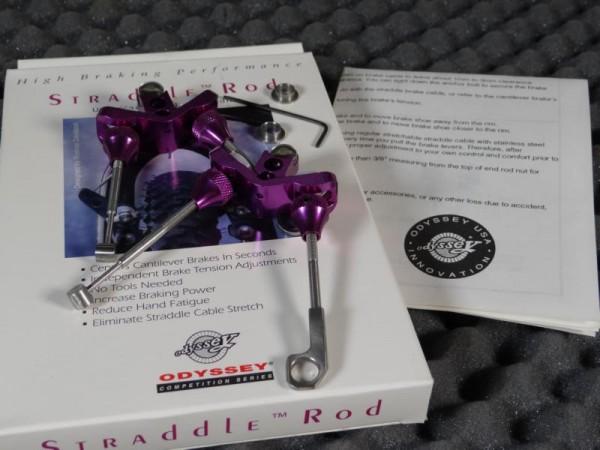"Odyssey Straddle Rods Set (kurz) "" Purple"""