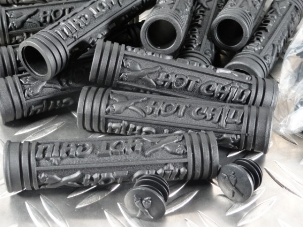 """Hot Chili Tricky Fingers MTB-Griffe """"Schwarz"""" NOS"""