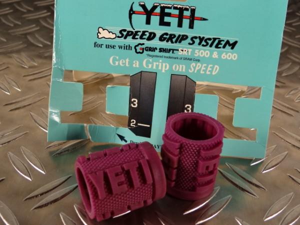 """YETI Grip Shift Griff-Cover """"Purple"""" SRT 500 SRT 600 NOS"""