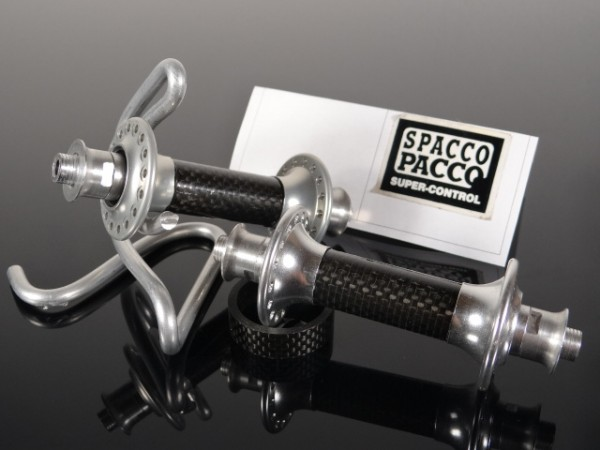 "Spacco Pacco Vorderrad Nabe ""Silber"" Carbon NOS"