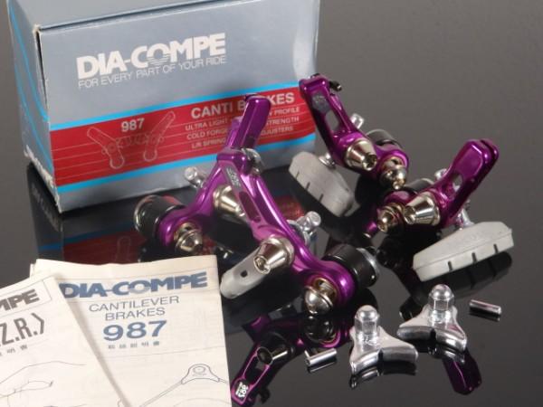 """Dia-Comp 987 Cantilever Bremsen Set """"Purple"""" NOS"""