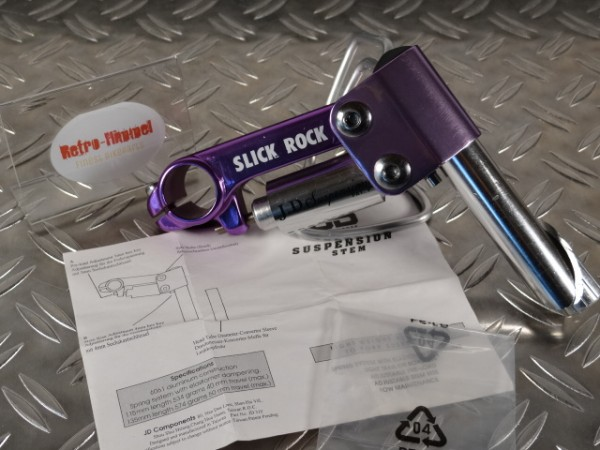 "J. D. Suspension Slick Rock Vorbau gefedert ""Purple"" NOS"
