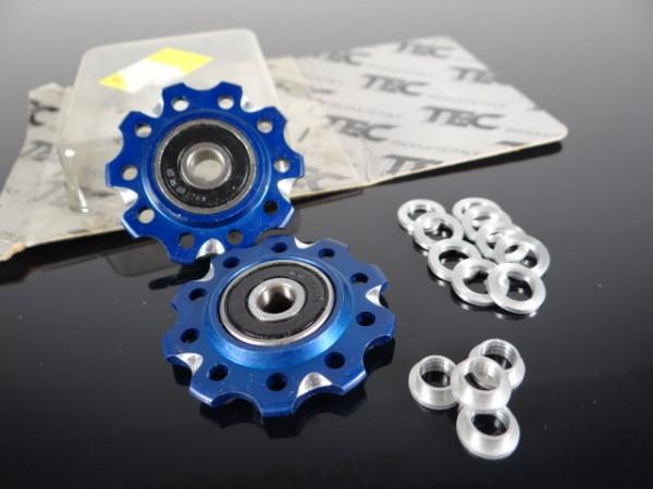 "TEC Products Schalträdchen Pulleys ""Blau"" NOS"