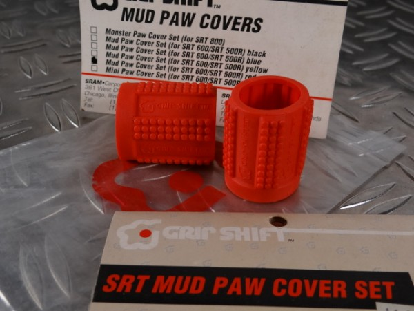Grip Shift Mud Paws Griff-Cover SRT 600 & 500R (Rot) NOS